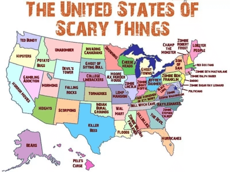 Scary Stuff In Every State