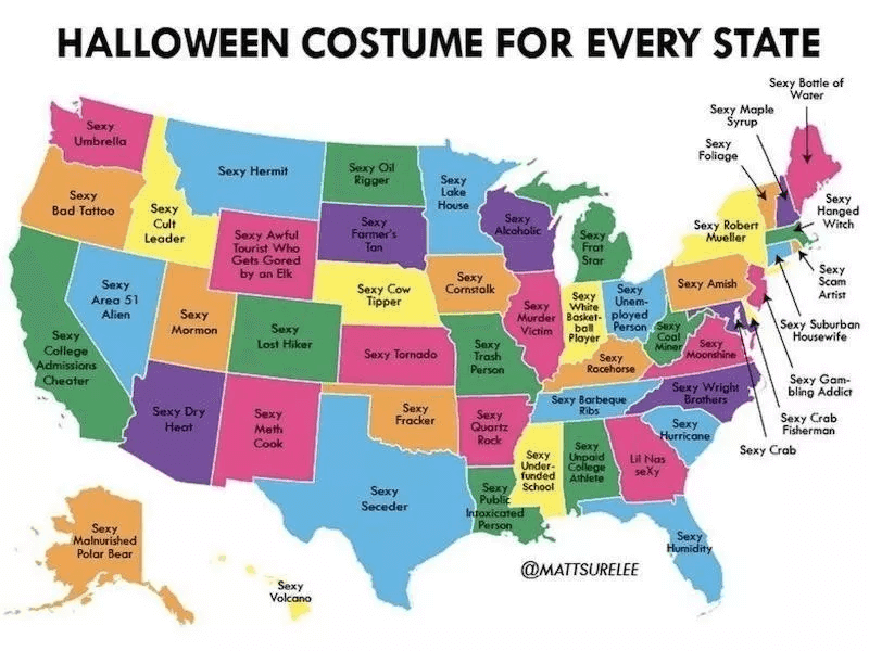 If Every State Had Their Own Halloween Costume